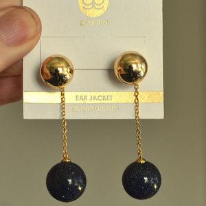 Gorjana Newport Blue Sandstone Drop Ball Earrings